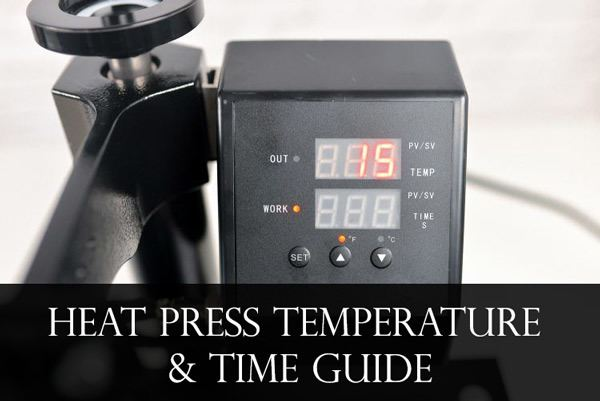 Heat Press Temperature and Time Guide