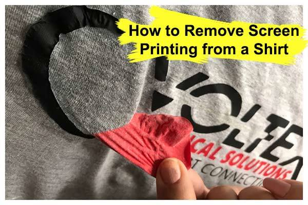 How to Remove Screen Printing from a Shirt